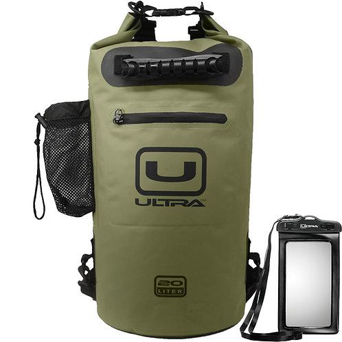 ULTRA Waterproof Dry Bag 20L - Army Green - Medium