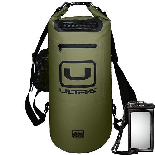 ULTRA Waterproof Dry Bag 40L - Army Green - XL