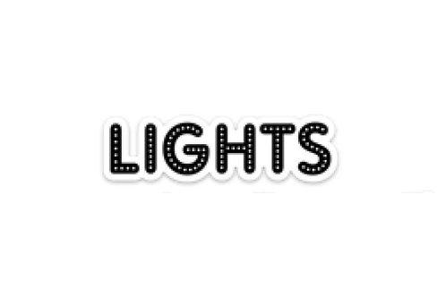 Lights (3in Sticker)