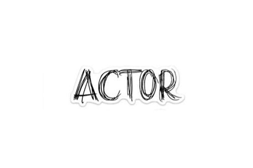 Actor (5in Sticker)