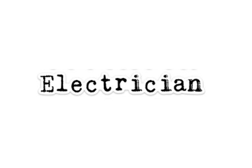 Electrician (7in Sticker)