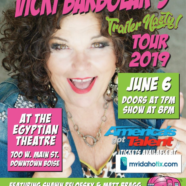 Vicki Comes to Boise June 6th