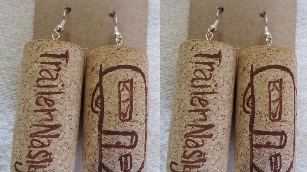 2 pair Trailer Nasty Wine Cork Earrings