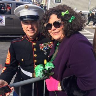 Vicki at the Boston St Patrick's Day Parade