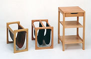 Magazine racks (BR 40A & BR 40) and a tall lamp table (BR 42) - BRINK MØBLER