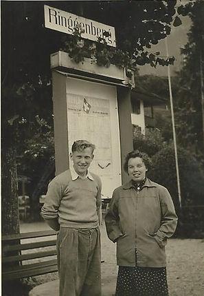 Jakob Brink, founder of Brink Møbler, Gelsted, and his wife Karen Brink.
