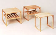 Lamp tables (BR 33 & BR 34) beech - BRINK MØBLER