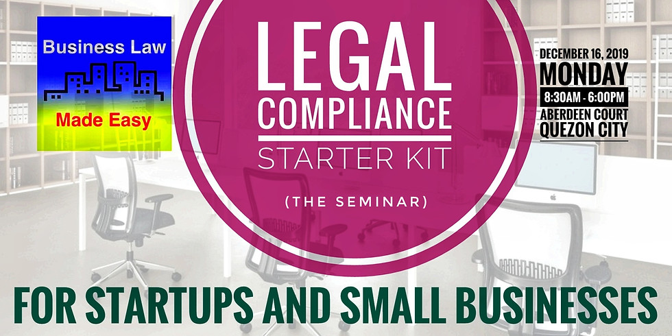 Legal Compliance Starter Kit for Startups and Small Businesses