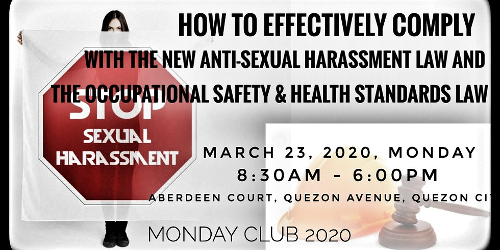 How to Effectively Comply with the New Anti-Sexual Harassment Law and Occupation Safety and Health Standards Law