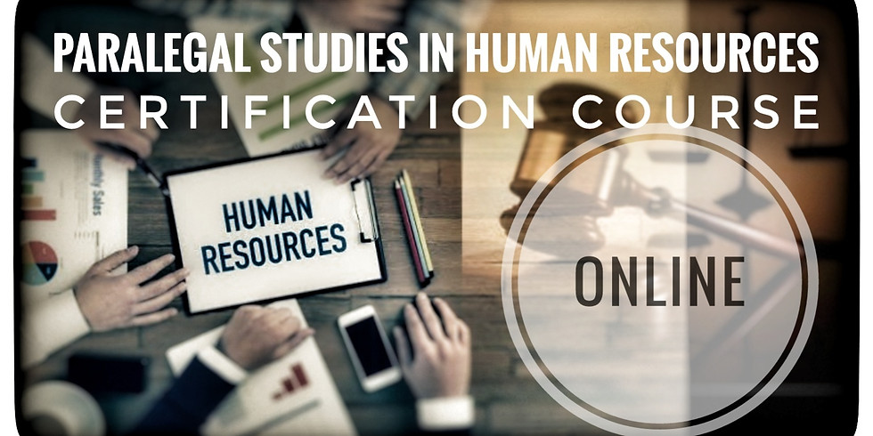 HR Paralegal Certification Course SATURDAYS