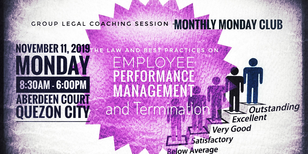 The Law and Best Practices on Employee Performance Management and Termination