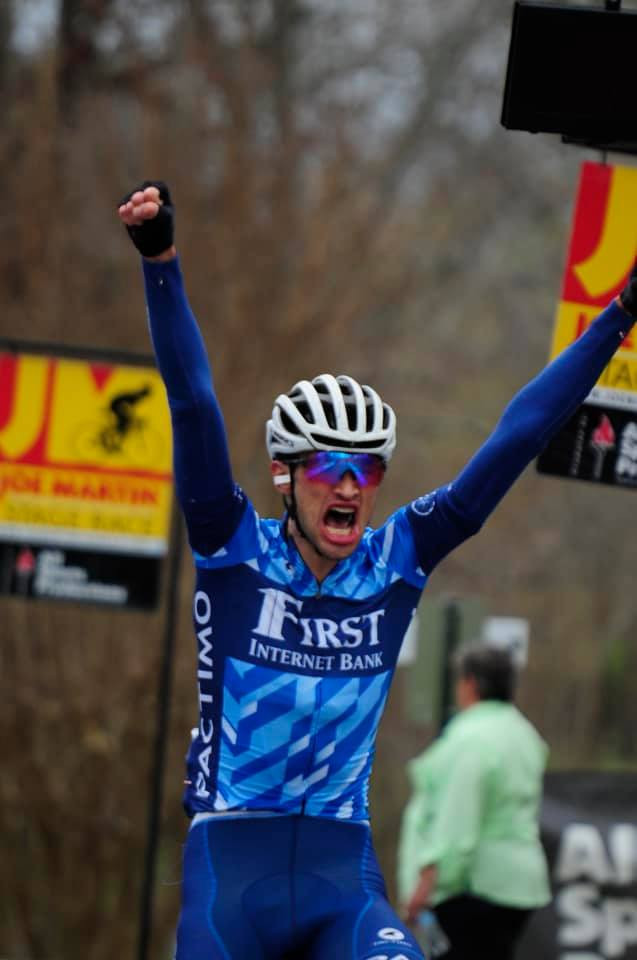 Stephen Bassett wins Stage One of the Joe Martin Stage Race