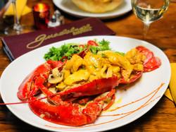 Seafood Stuffed whole Lobster