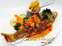 Red snapper in coconut sauce!!