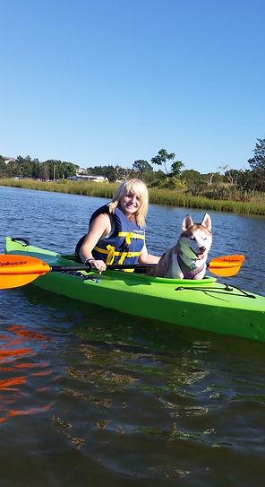 husky kayaking