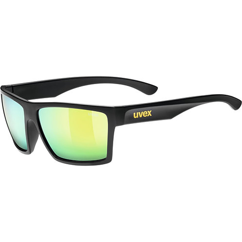 Γυαλιά ηλίου Uvex lgl 29, black mat/mirror yellow