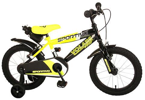Παιδικό ποδήλατο Volare Sportivo - Boys - 16 inch - Neon Yellow Black - Two hand