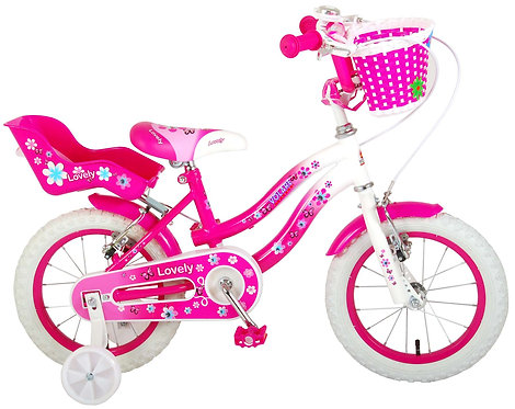 Παιδικό ποδήλατο Volare Lovely - Girls - 14 inch - Pink White - Two handbrakes