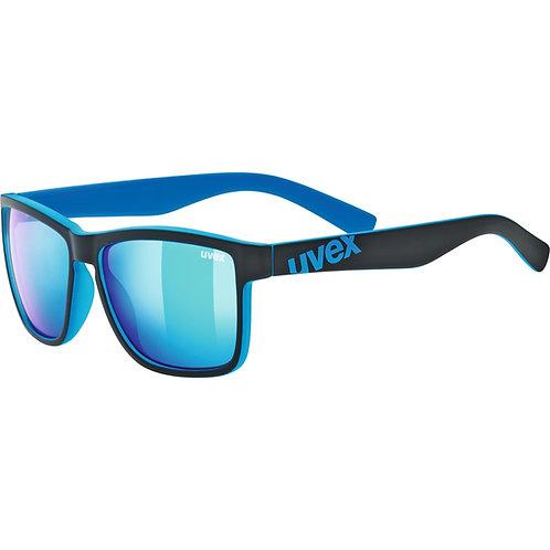 Γυαλιά ηλίου Uvex lgl 39, black mat blue/mirror blue