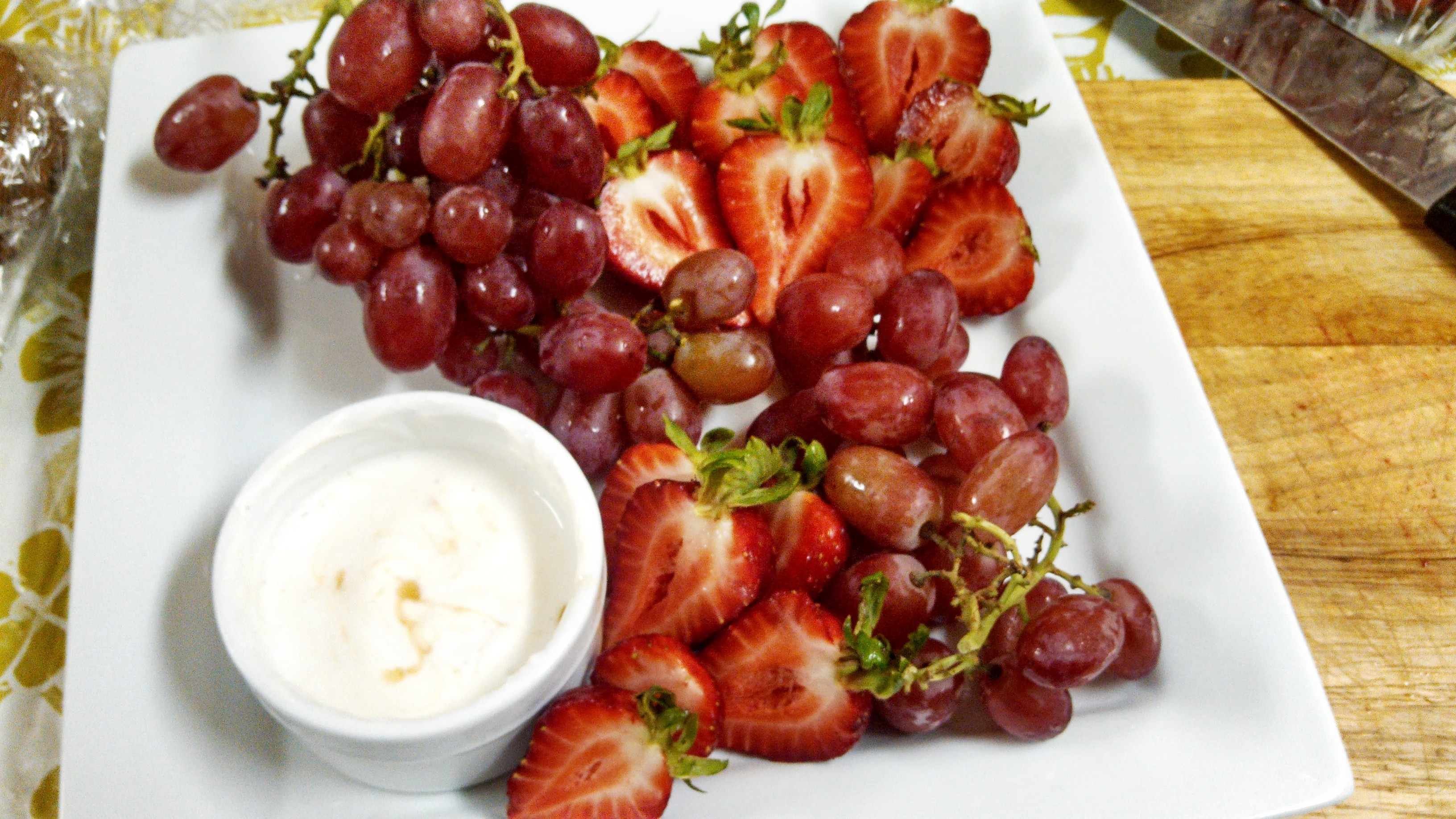 Grapes & Berries w/ Cream Sauce