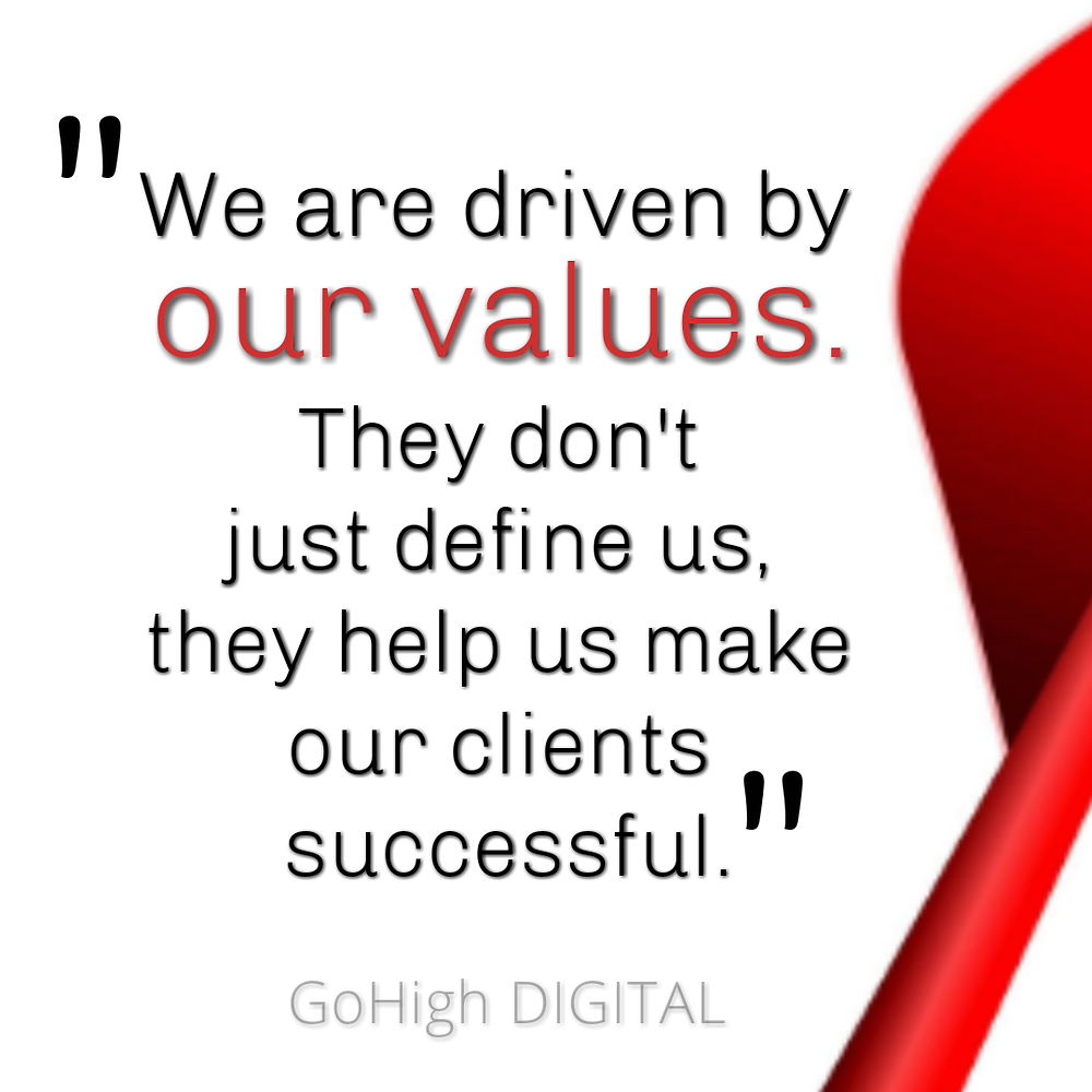GoHigh DIGITAL Ljubljana Slovenija | Google SEO Company | Business Identity | Values, Consistency,  Credibility, Reputation, Differentiation, Awareness, Expansion, Customer Retention, Loyalty, Grow.