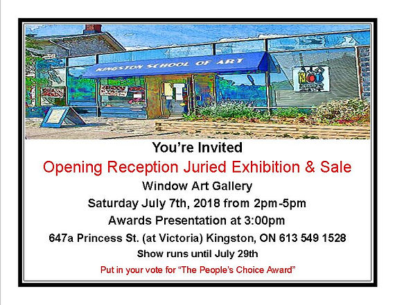 Juried Art Exhibit and Sale in Kingston