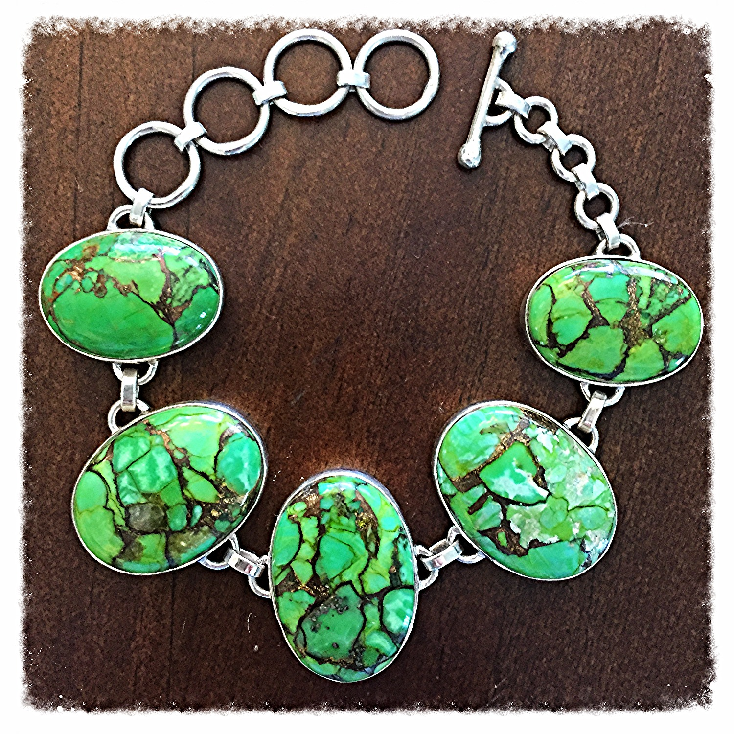 Oval Copper Turquoise Bracelet_edited