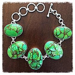 Oval Copper Turquoise Bracelet_edited
