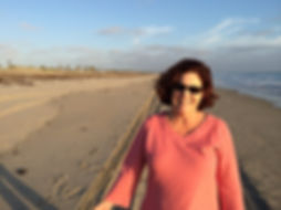 Beth on the Silver Strand in Coronado, California
