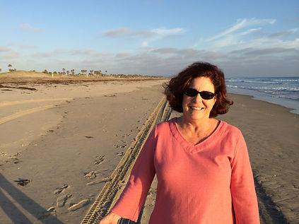Beth on the Silver Strand in Coronado, California