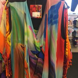Artist-inspired silk blouse