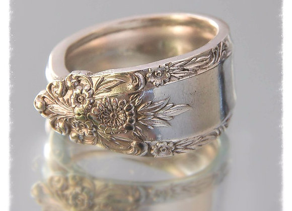 Lily Claire Antique Spoon Ring in Sterling Silver