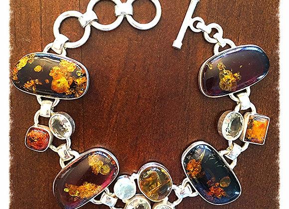 Liquid Amber Bracelet with Moonstone & Citrine