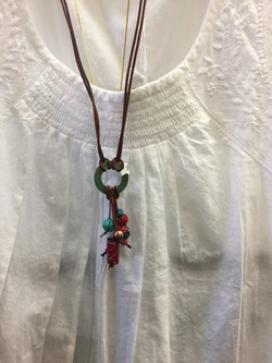 Cotton blouse and necklace