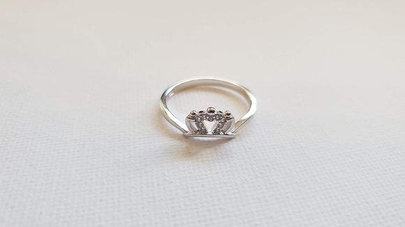 טבעת כסף בצורת כתר
