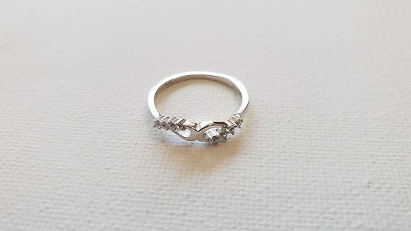 טבעת כסף אינסוף