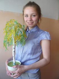 "Творческий проект ""Дерево из бисера. Береза"""