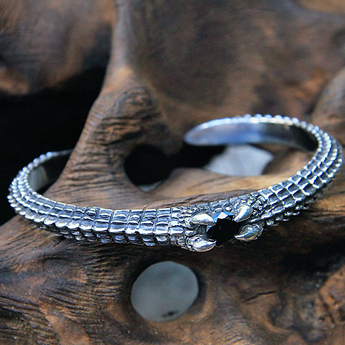Bracelet Silver Croco