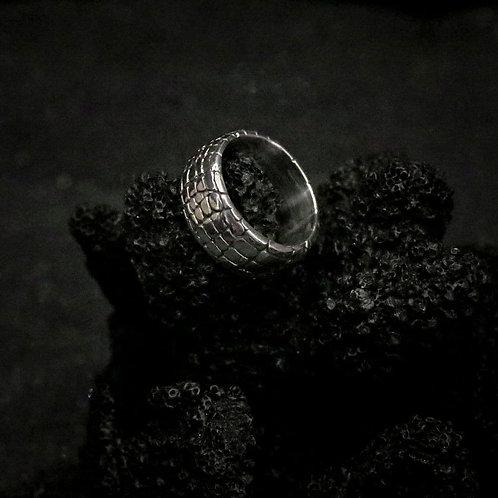 Ring Silver Croco