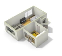 3D-voorstel interieur