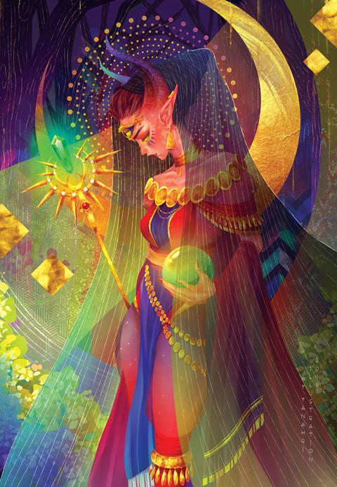 """The High Priestess"" by Arianne Sapalaran"