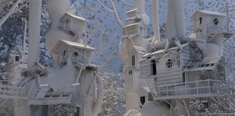 """""""Treehouse City"""" by Pauline Padilla"""