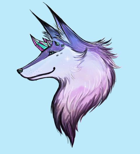 The Blue Fox Spirit by Jolanel Tagomata