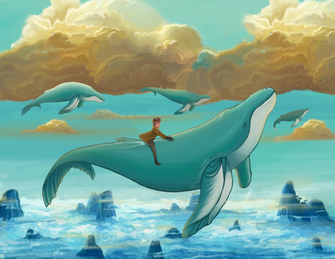 """""""Marcus and the Whales"""" by Aleja Estrella"""