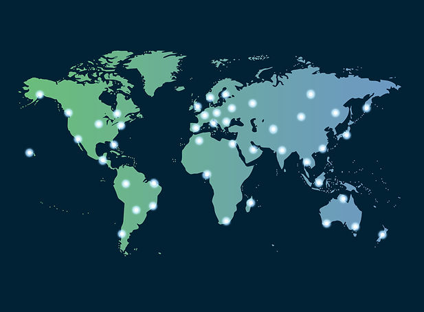 Global networking symbol of international communication featuring a world map concept with