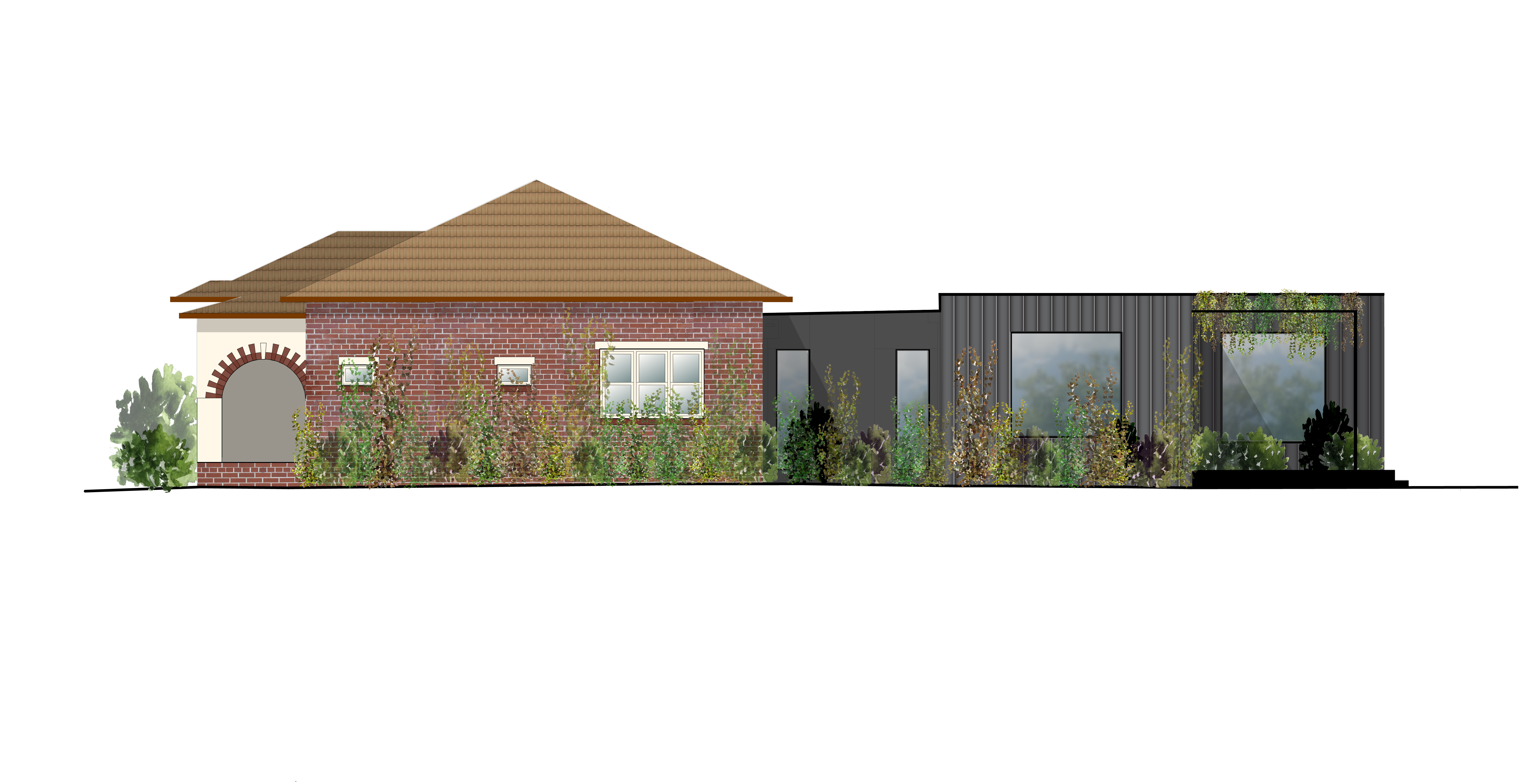 190325 LC17 West elevation coloured