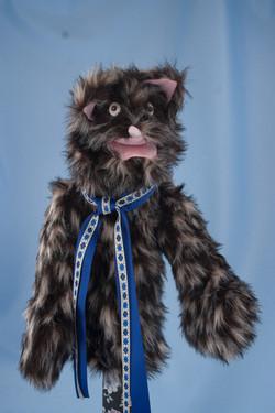 CAT-KITTY  fuzzy black & tan