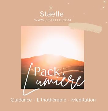 PACK LUMIÈRE - Guidance, Lithothérapie, Méditation