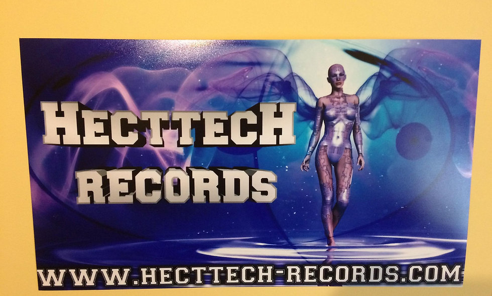 Small Hecttech Records Poster  - 24cm by 42cm