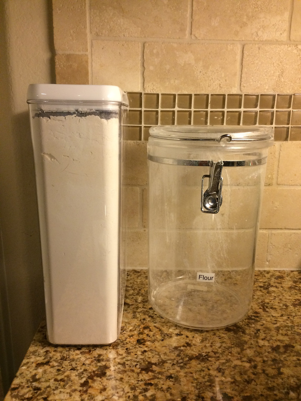 Flour containers